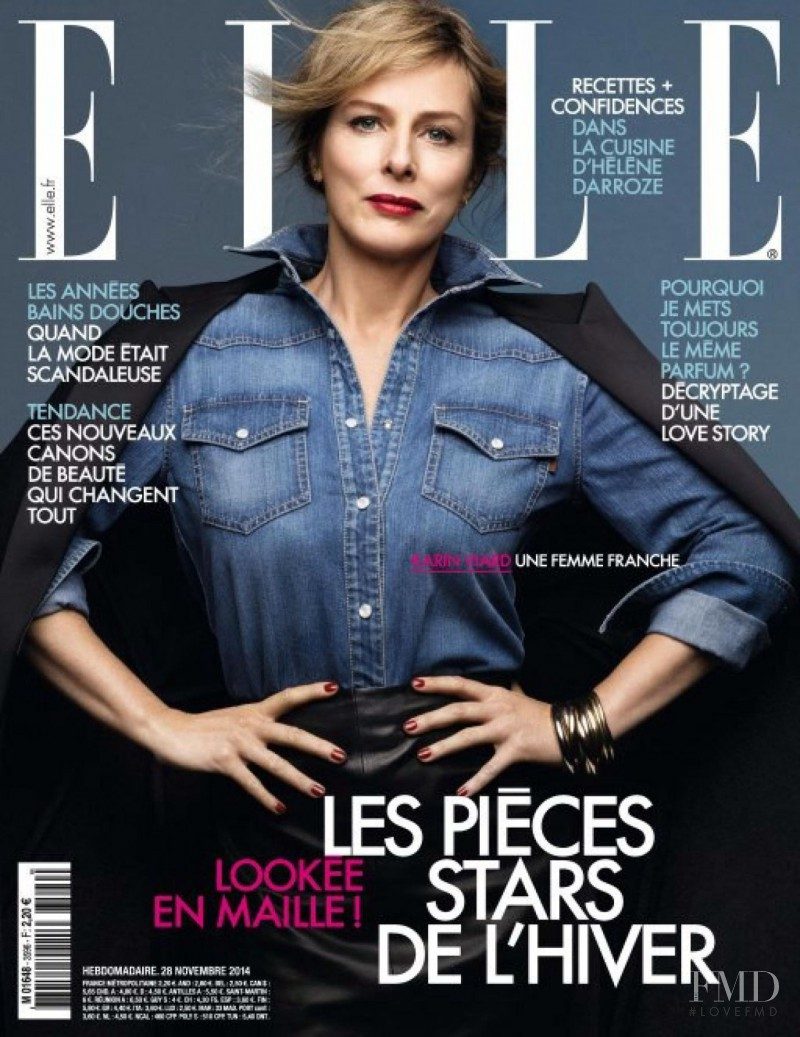 Karin Viard featured on the Elle France cover from November 2015