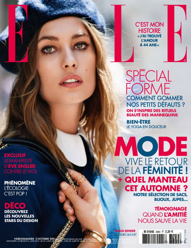 Nadja Bender featured on the Elle France cover from October 2015
