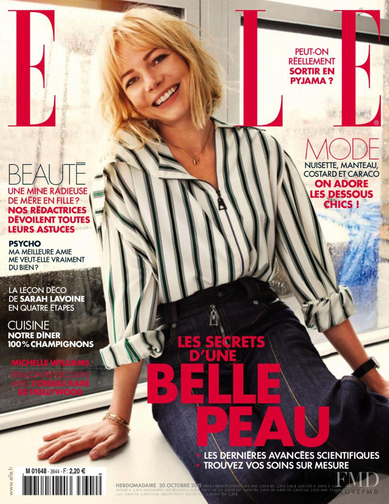 Michelle Williams featured on the Elle France cover from October 2015