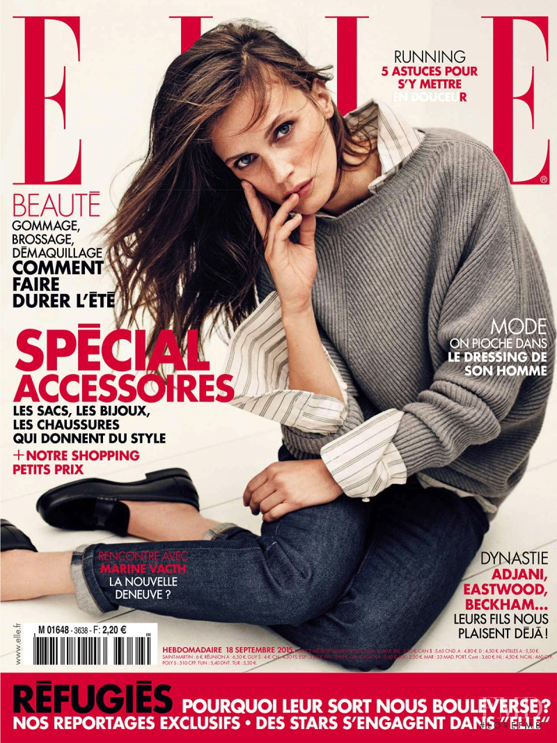 Marine Vacth featured on the Elle France cover from September 2015