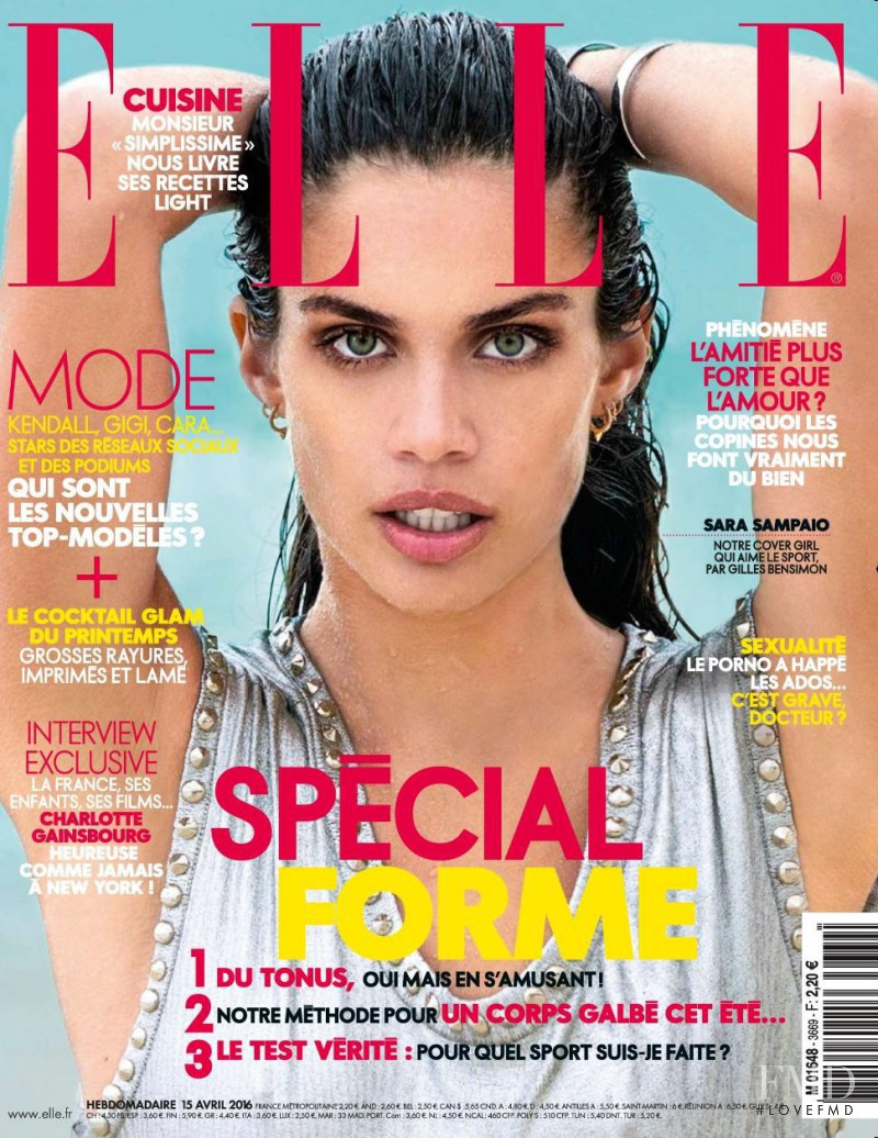 Sara Sampaio featured on the Elle France cover from April 2016