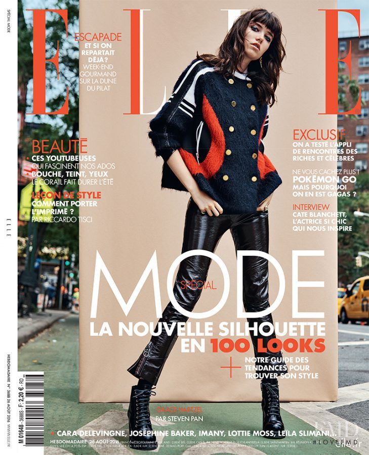 Grace Hartzel featured on the Elle France cover from August 2016