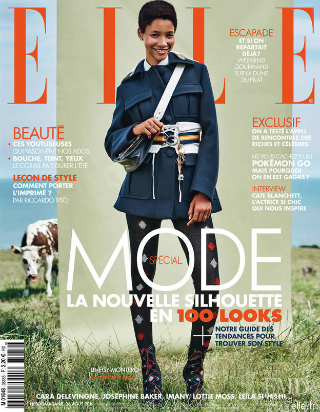 Lineisy Montero featured on the Elle France cover from August 2016