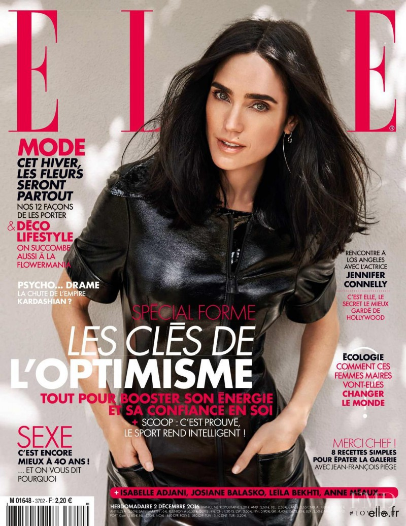 Jennifer Connelly featured on the Elle France cover from December 2016