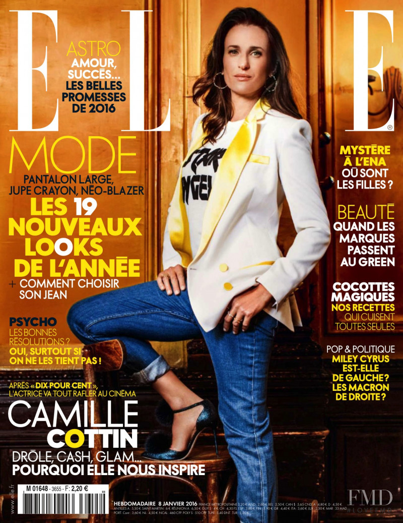 featured on the Elle France cover from January 2016
