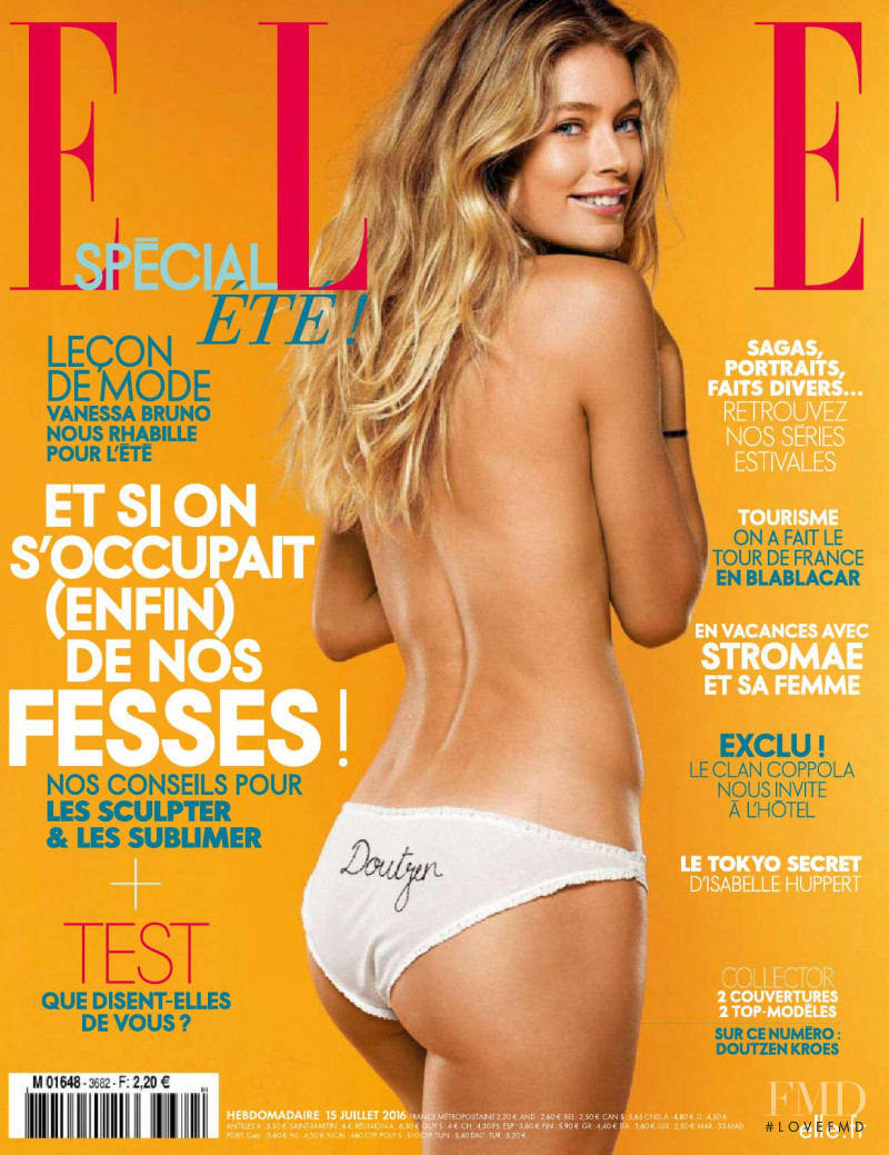 Doutzen Kroes featured on the Elle France cover from July 2016