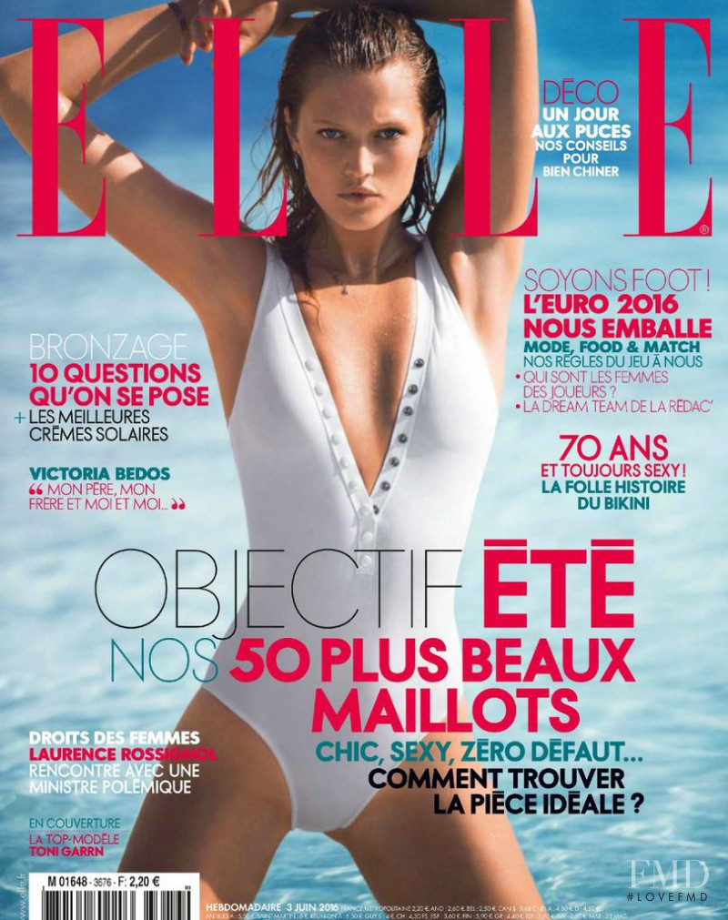 Toni Garrn featured on the Elle France cover from June 2016