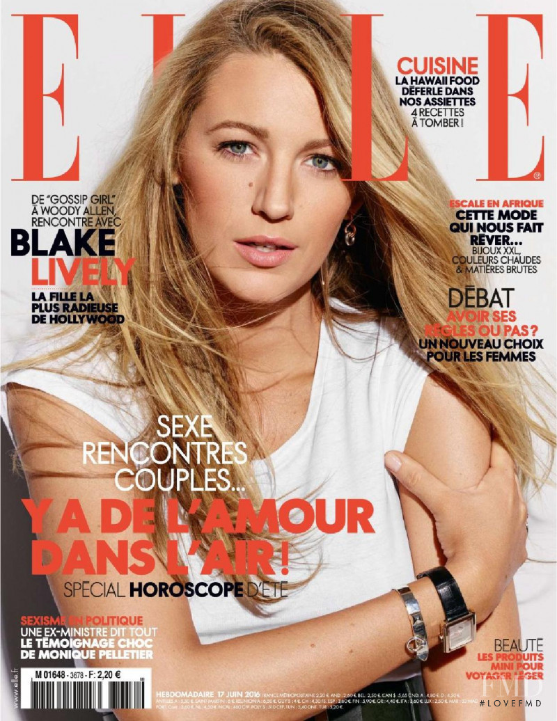 Blake Lively featured on the Elle France cover from June 2016
