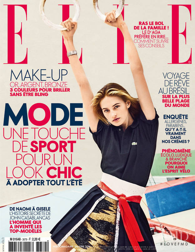 Sanne Vloet featured on the Elle France cover from June 2016