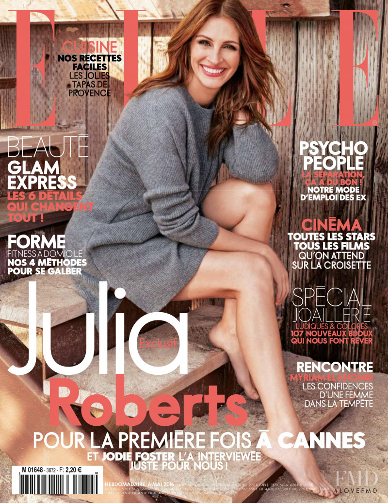 Julia Roberts featured on the Elle France cover from May 2016