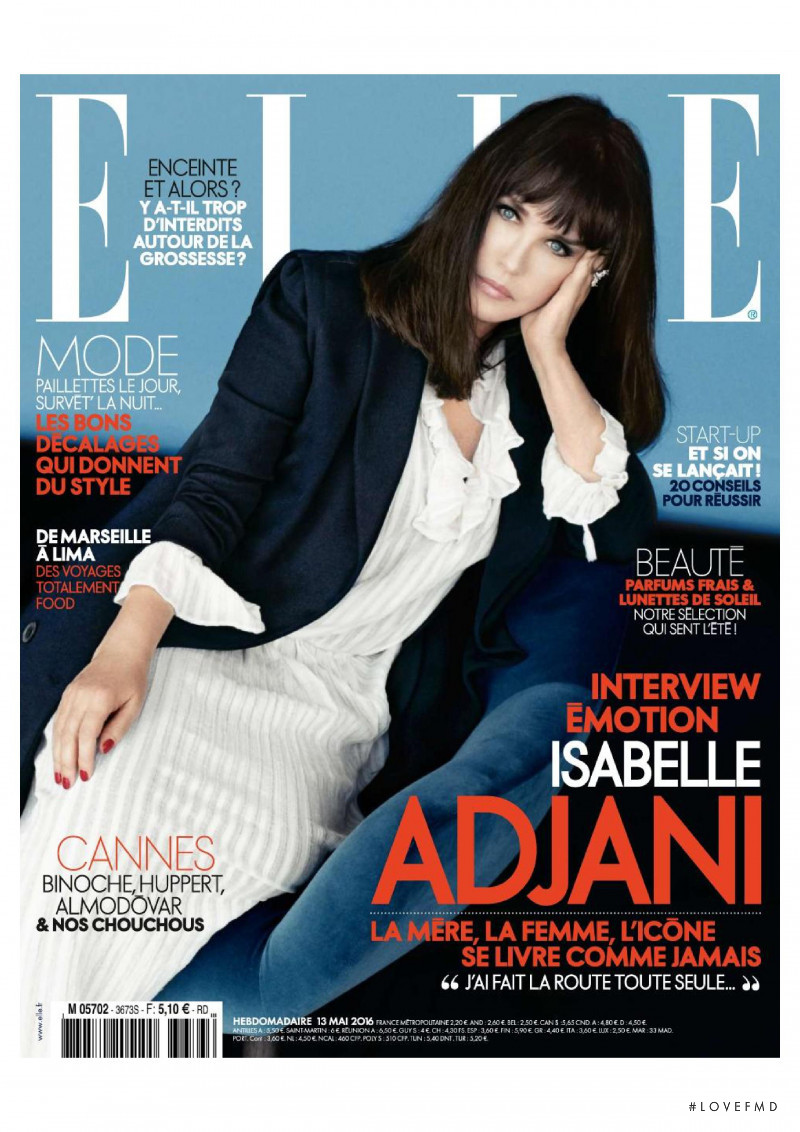 Isabelle Adjani featured on the Elle France cover from May 2016