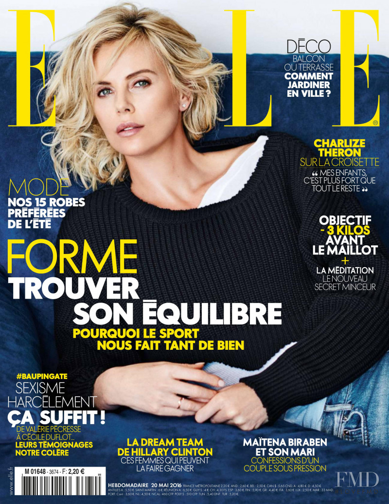 Charlize Theron featured on the Elle France cover from May 2016