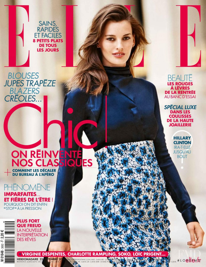 Amanda Murphy featured on the Elle France cover from September 2016