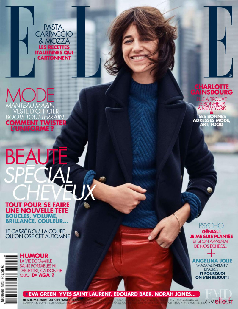 Charlotte Gainsbourg featured on the Elle France cover from September 2016