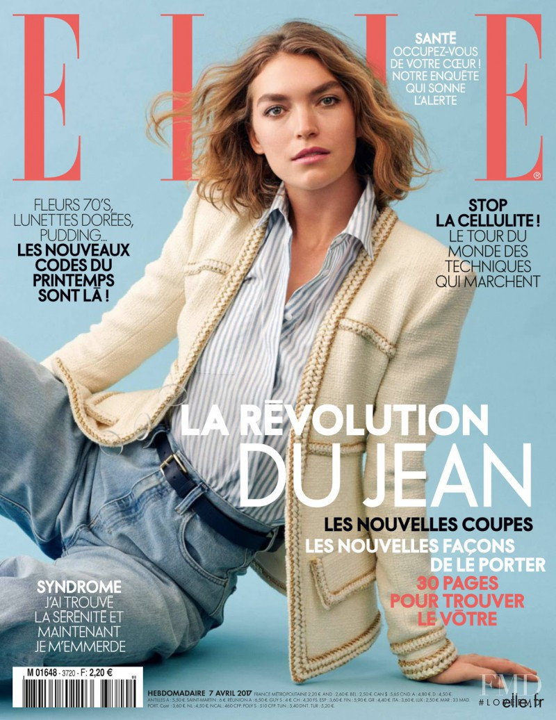 Arizona Muse featured on the Elle France cover from April 2017