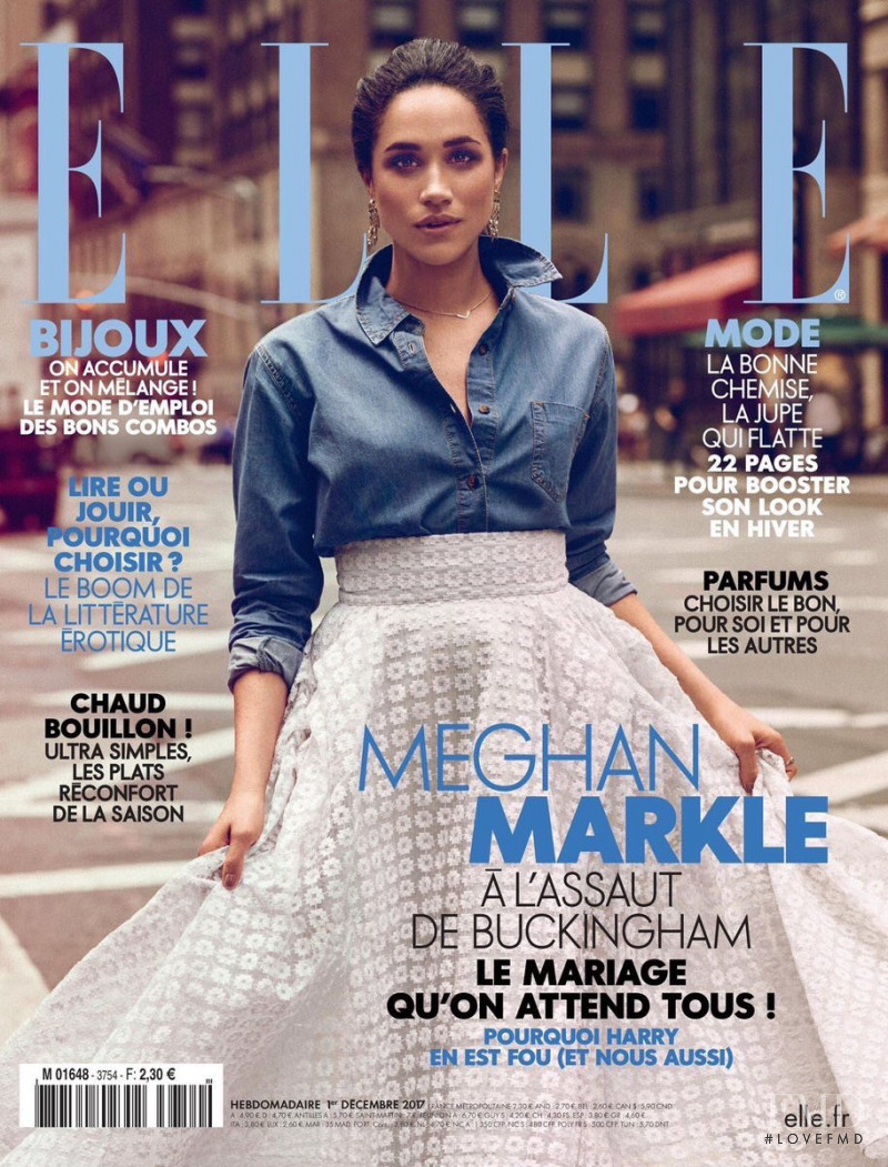 Meghan Markle featured on the Elle France cover from December 2017