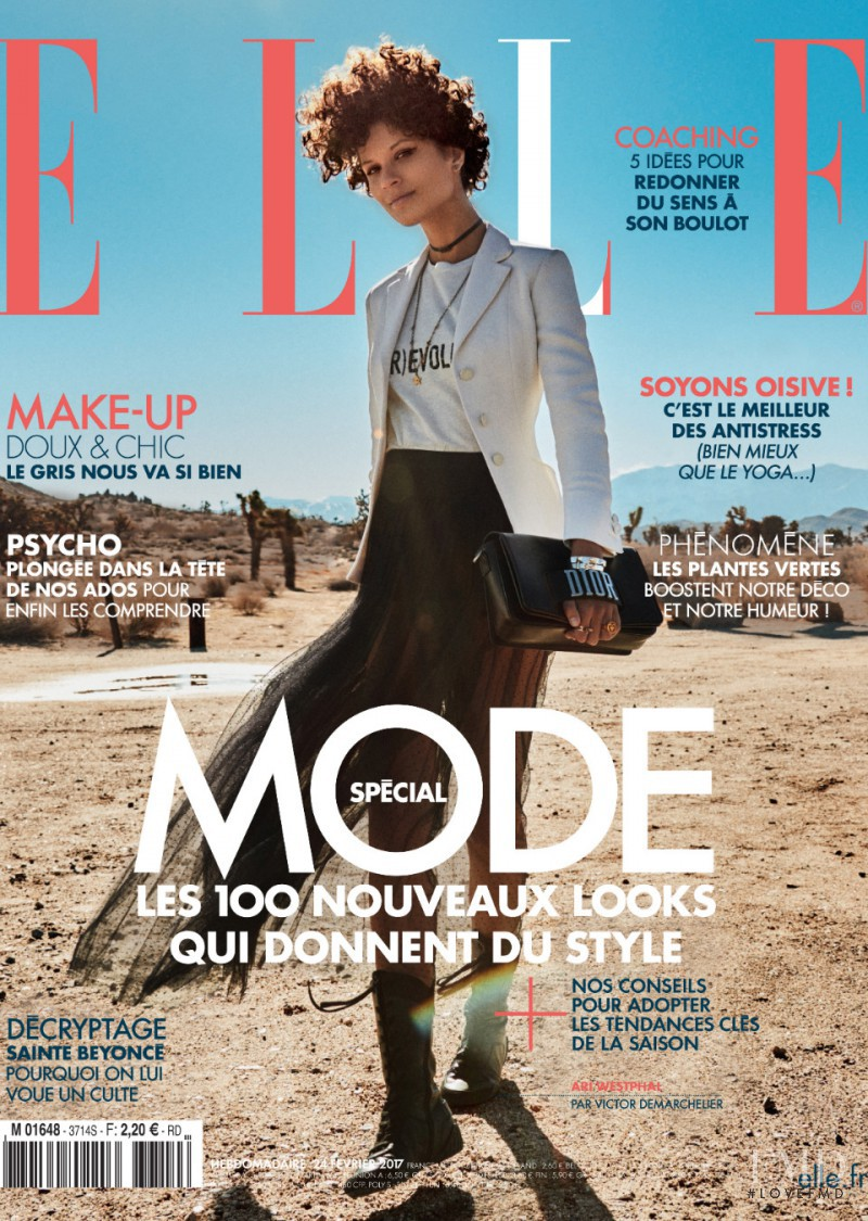 Ari Westphal featured on the Elle France cover from February 2017