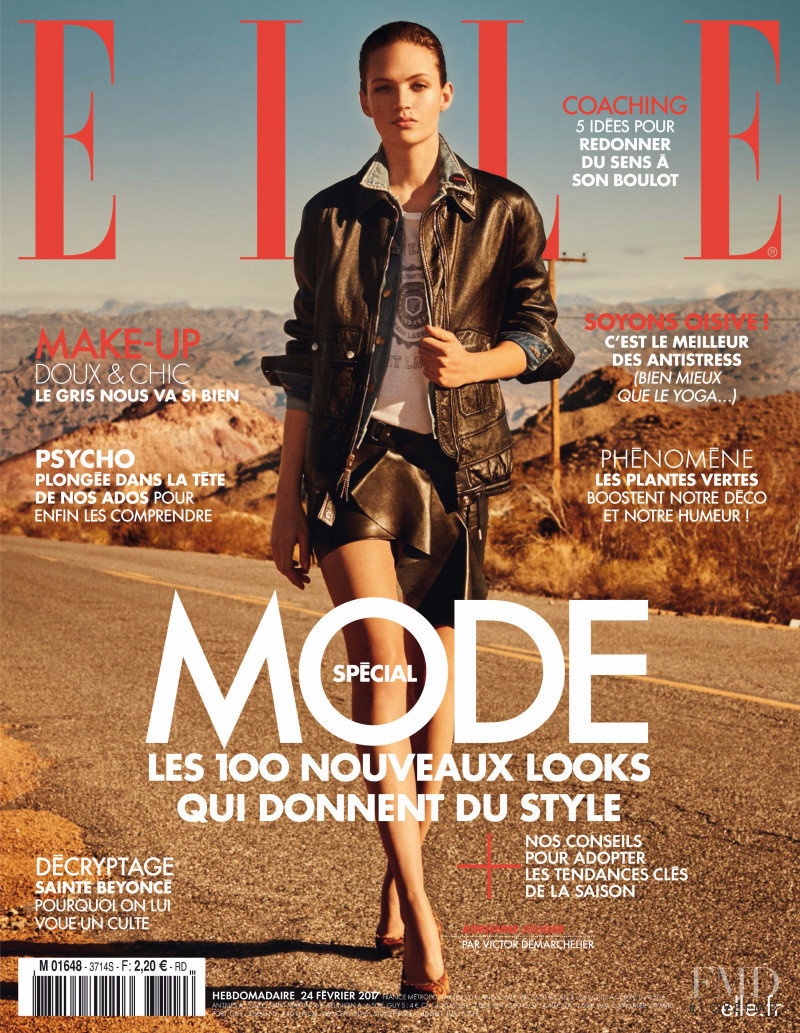 Adrienne Juliger featured on the Elle France cover from February 2017