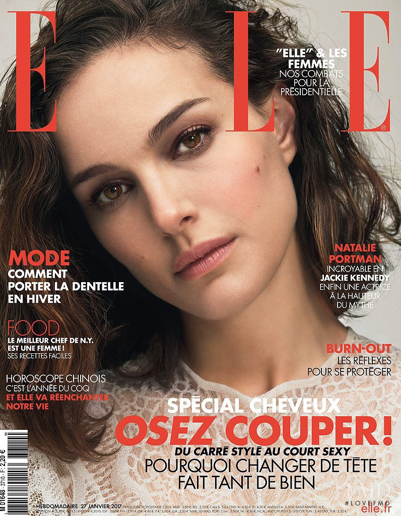 Natalie Portman featured on the Elle France cover from January 2017