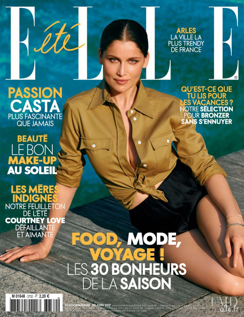 Laetitia Casta featured on the Elle France cover from July 2017