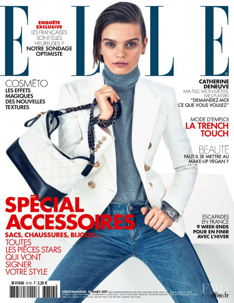 Marthe Wiggers featured on the Elle France cover from March 2017