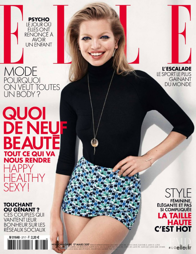 Daphne Groeneveld featured on the Elle France cover from March 2017