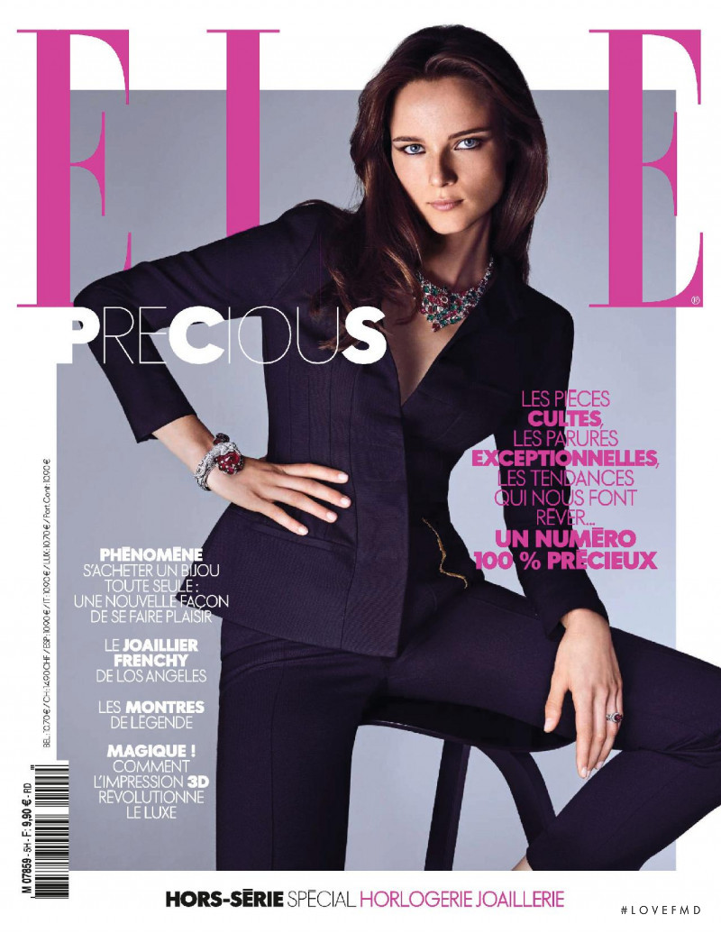 Anna de Rijk featured on the Elle France cover from November 2017