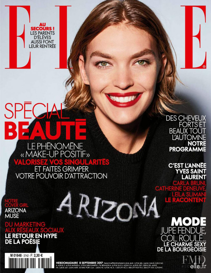 Arizona Muse featured on the Elle France cover from September 2017
