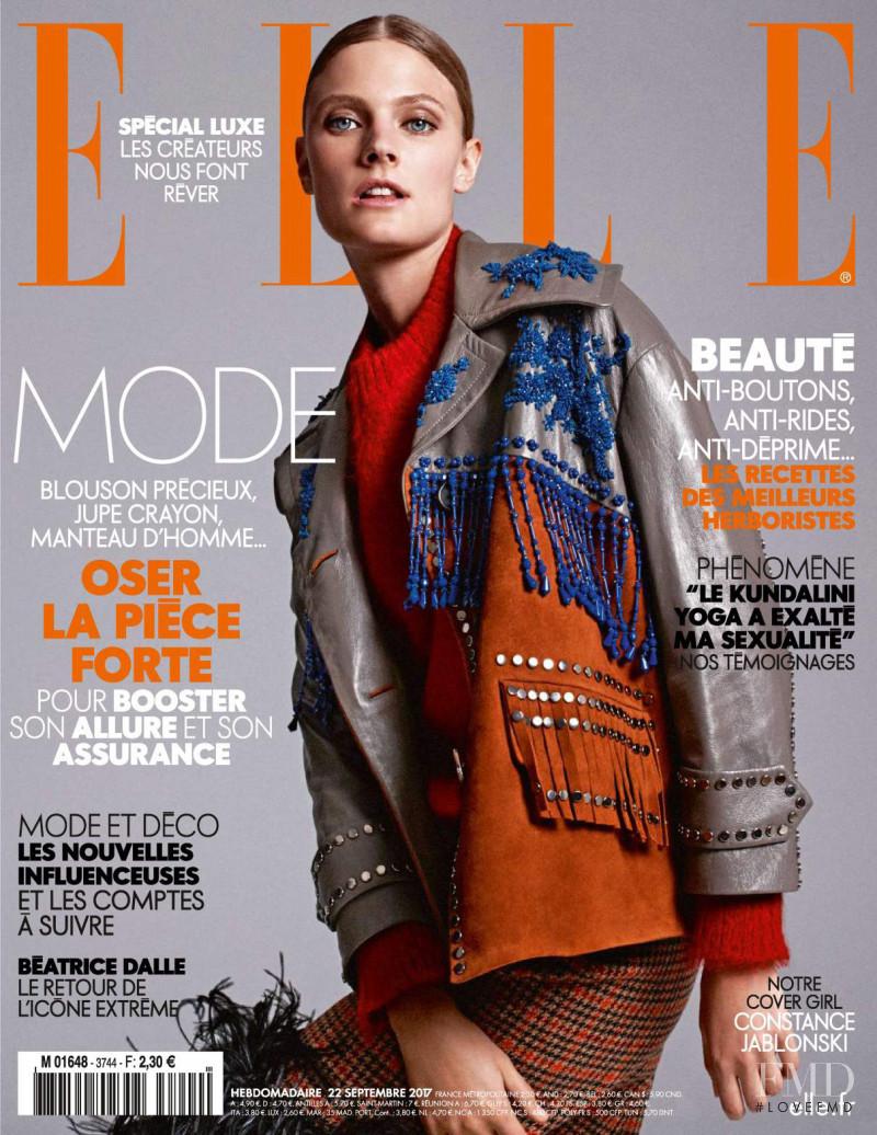 Constance Jablonski featured on the Elle France cover from September 2017