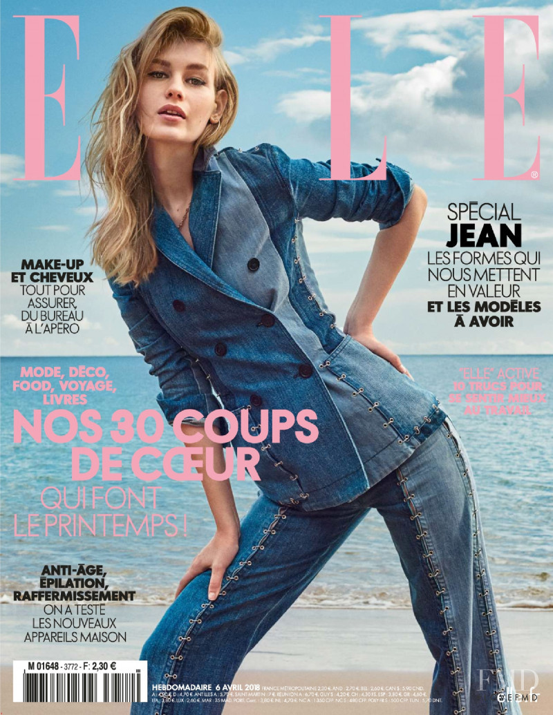 Sofia Mechetner featured on the Elle France cover from April 2018