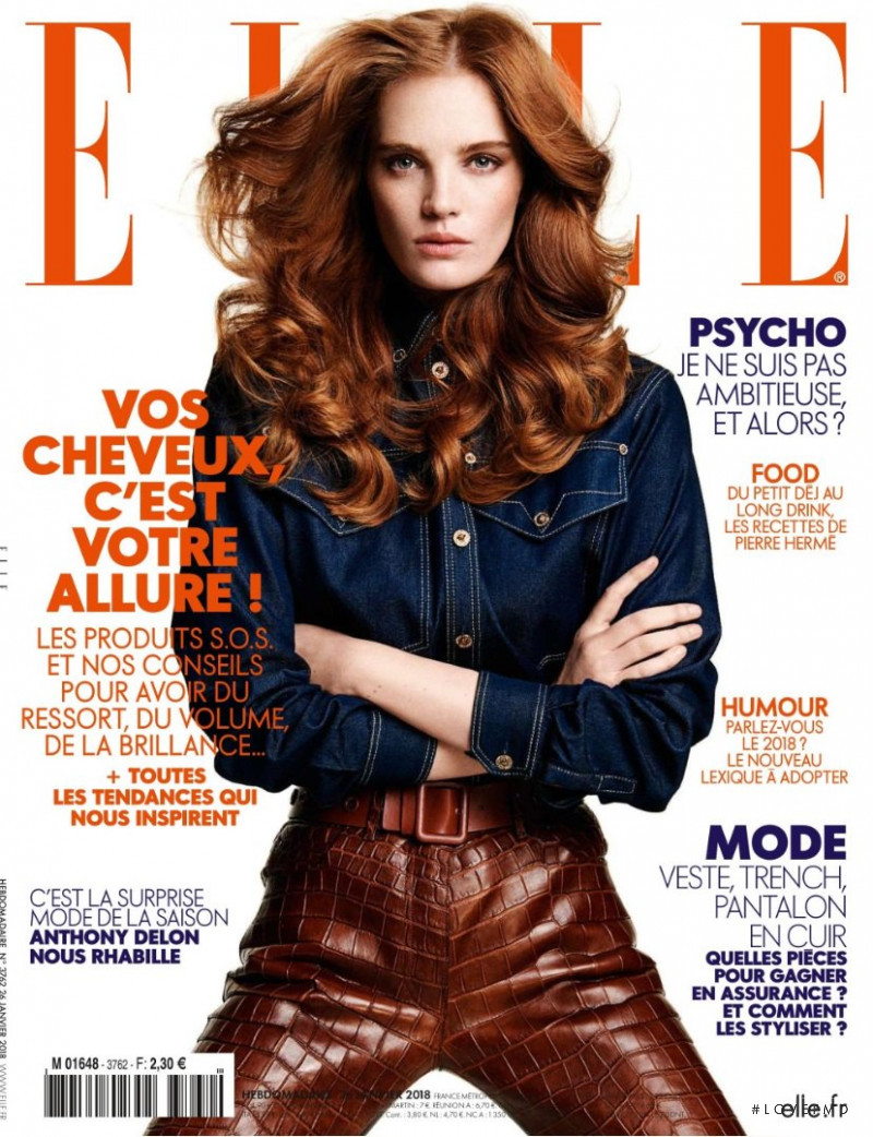Alexina Graham featured on the Elle France cover from January 2018