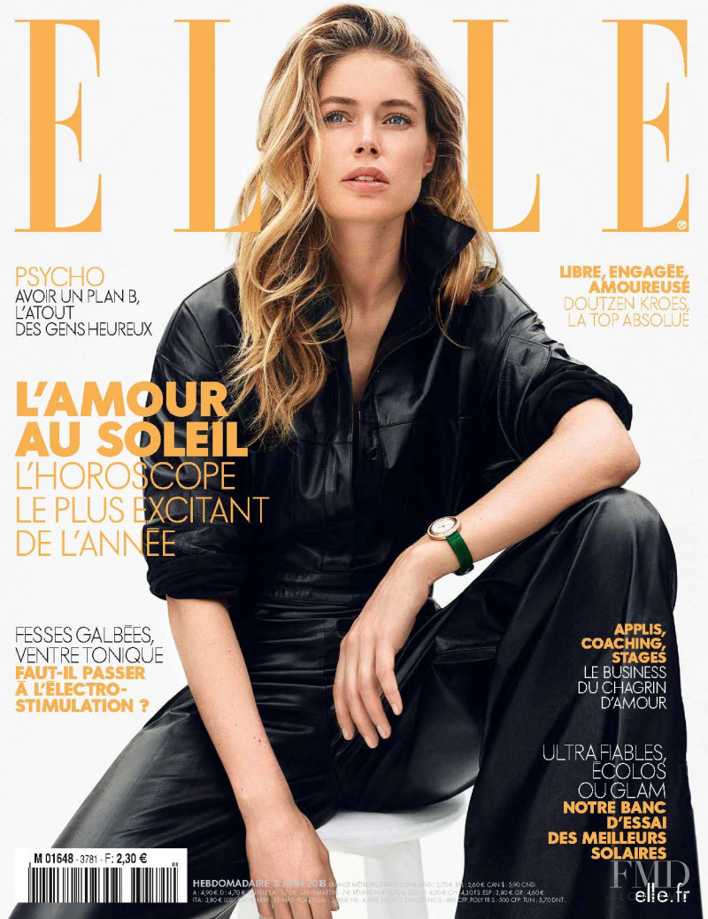 Doutzen Kroes featured on the Elle France cover from June 2018