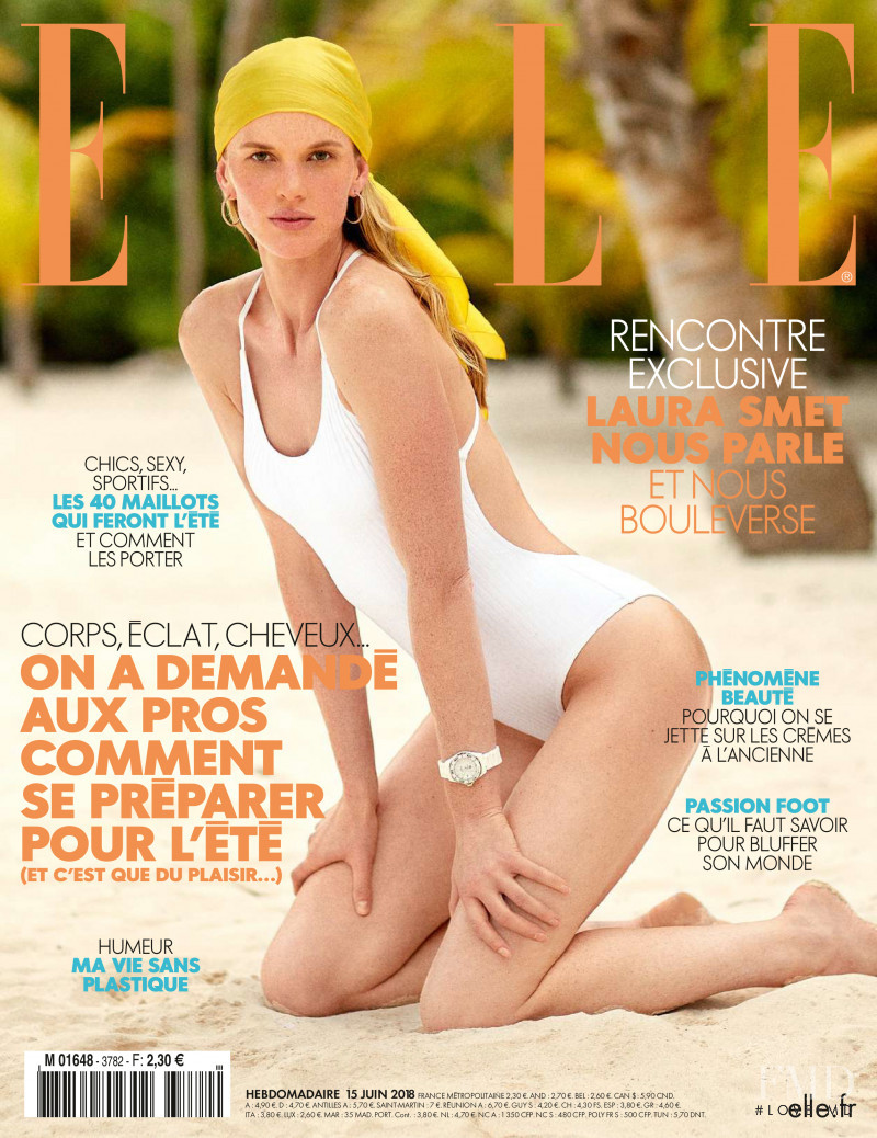 Anne Vyalitsyna featured on the Elle France cover from June 2018