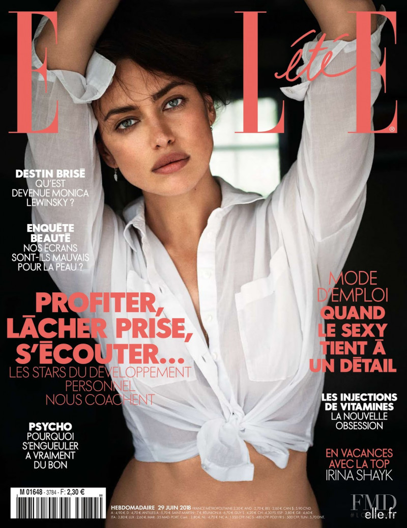 Irina Shayk featured on the Elle France cover from June 2018