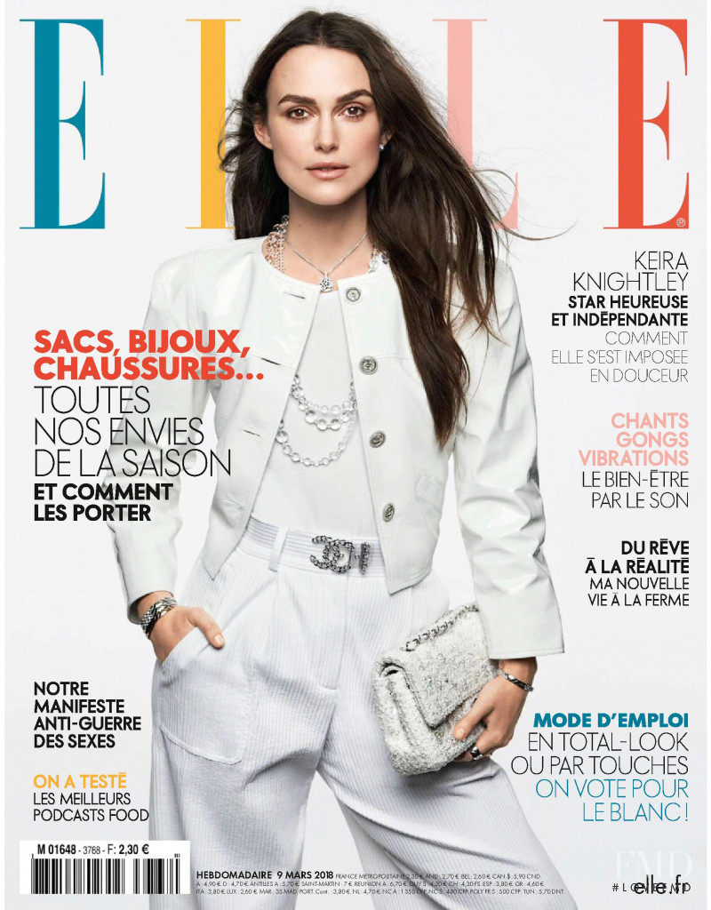 Keira Knightley featured on the Elle France cover from March 2018