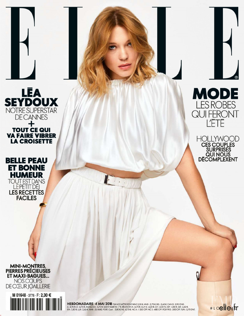 Lea Seydoux featured on the Elle France cover from May 2018