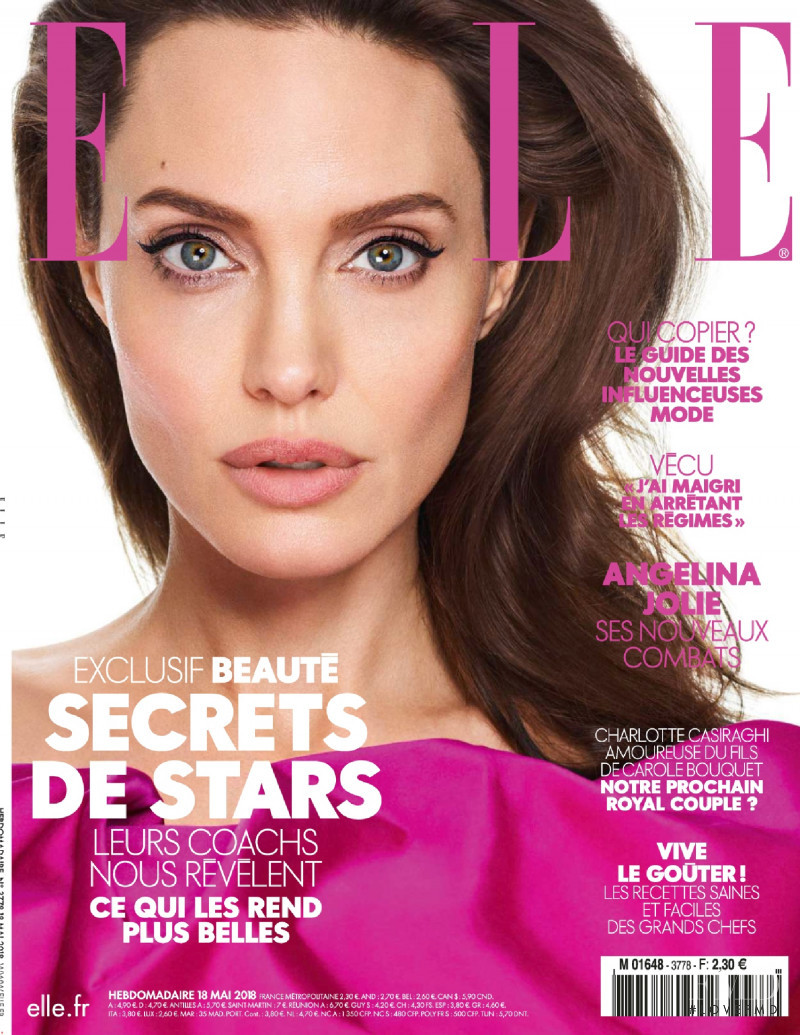 Angelina Jolie featured on the Elle France cover from May 2018