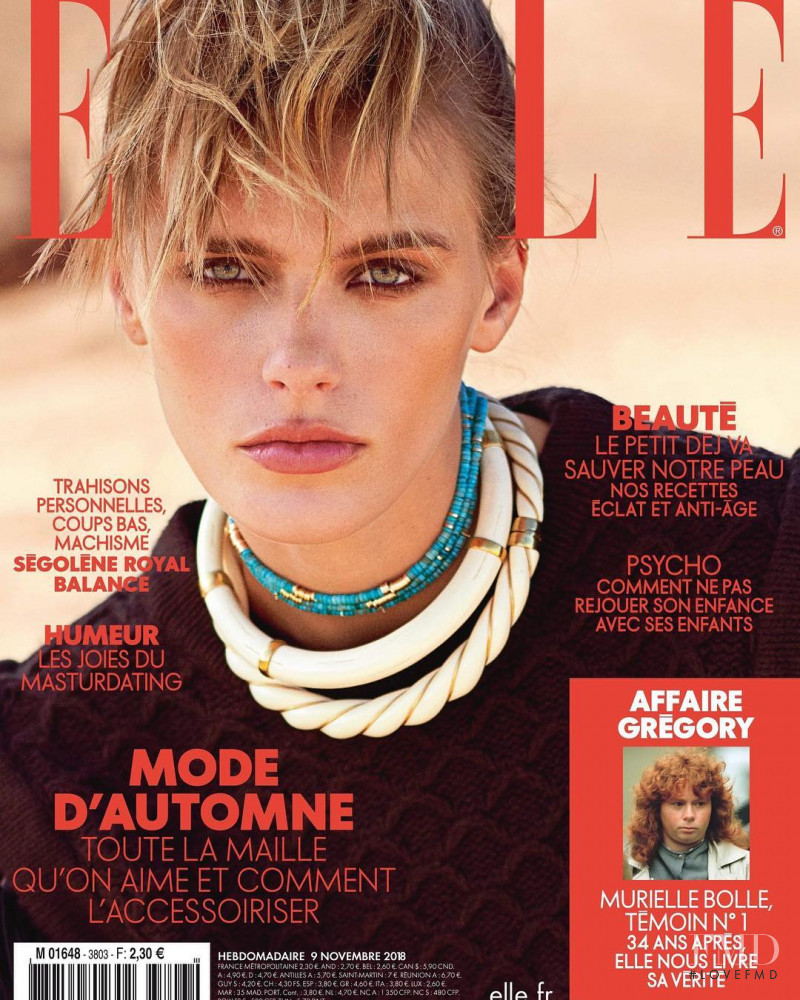 Madison Headrick featured on the Elle France cover from November 2018