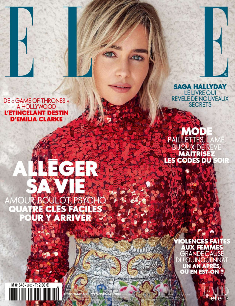 featured on the Elle France cover from November 2018