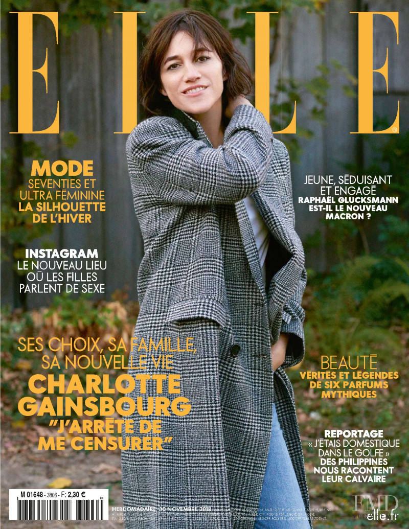 Charlotte Gainsbourg featured on the Elle France cover from November 2018