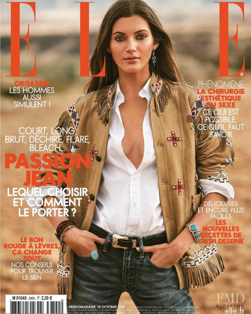 Valery Kaufman featured on the Elle France cover from October 2018