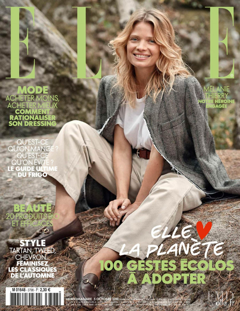 Melanie Thierry featured on the Elle France cover from October 2018
