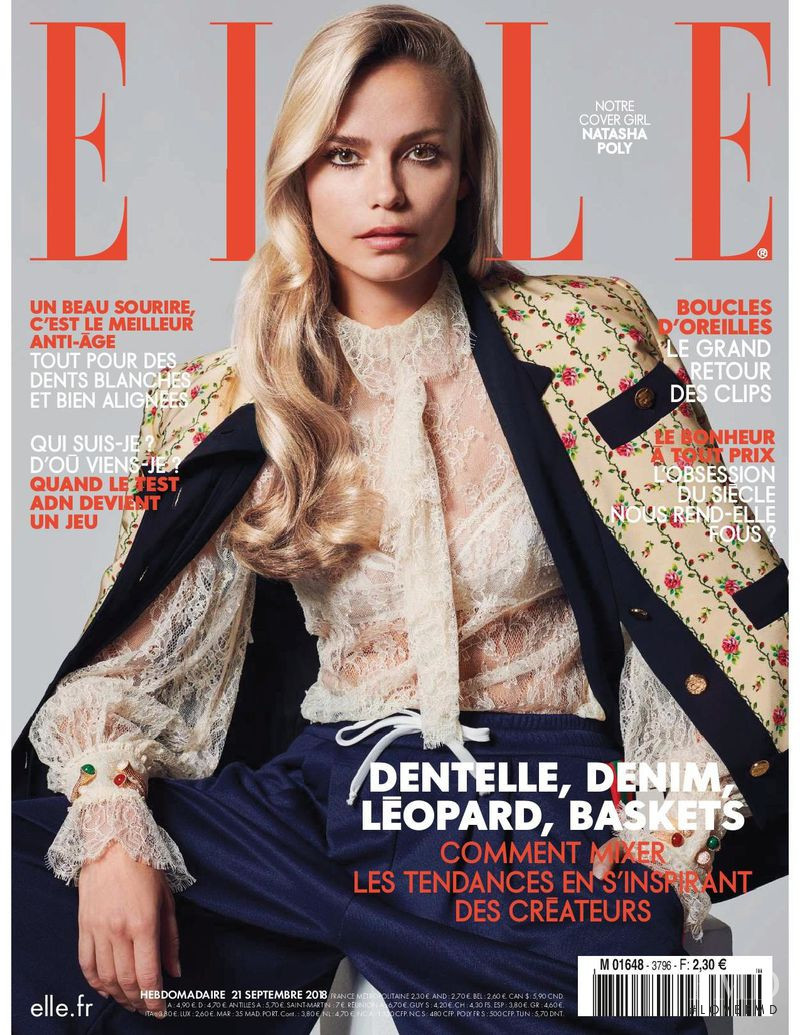 Natasha Poly featured on the Elle France cover from September 2018