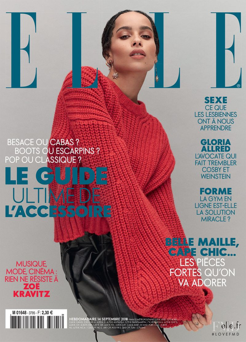 featured on the Elle France cover from September 2018
