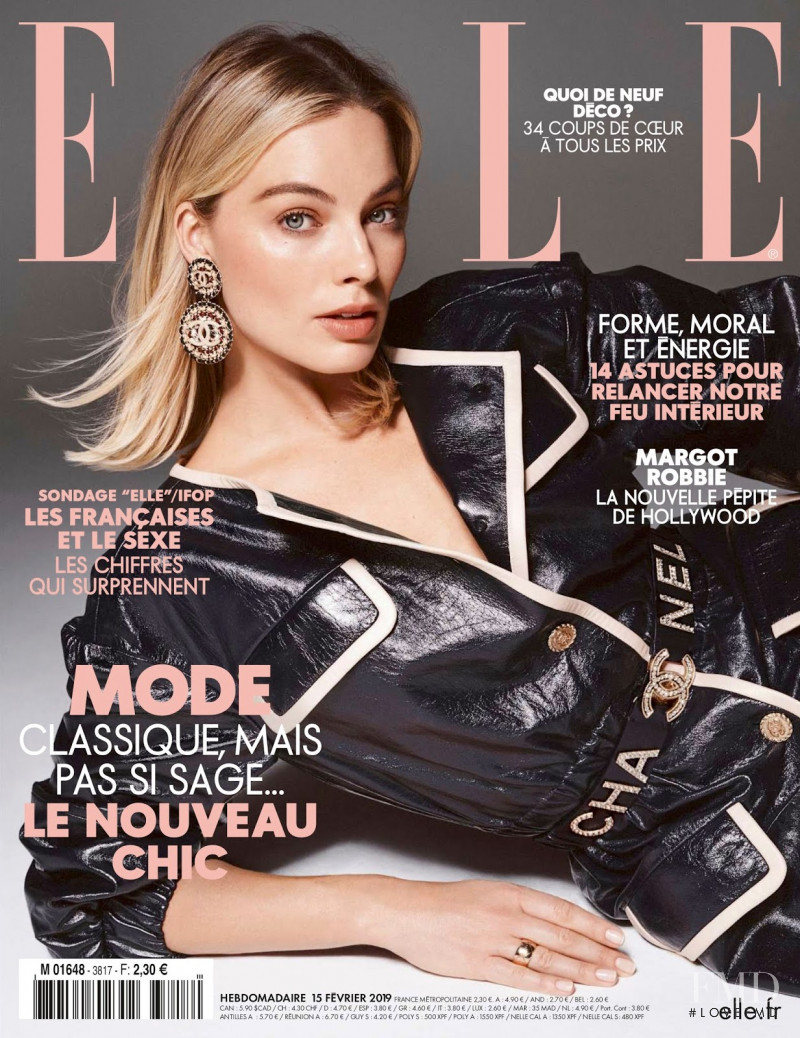 Margot Robbie featured on the Elle France cover from February 2019