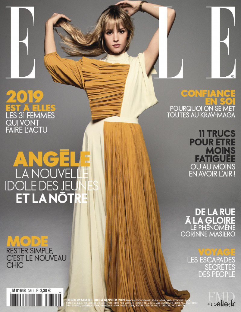 featured on the Elle France cover from January 2019