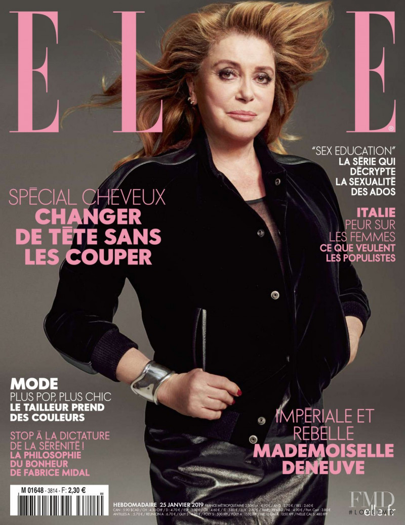 Catherine Deneuve  featured on the Elle France cover from January 2019