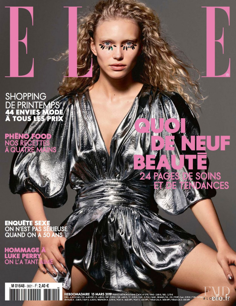 Kim Van Der Laan featured on the Elle France cover from March 2019