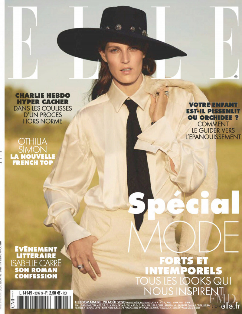 Othilia Simon featured on the Elle France cover from August 2020