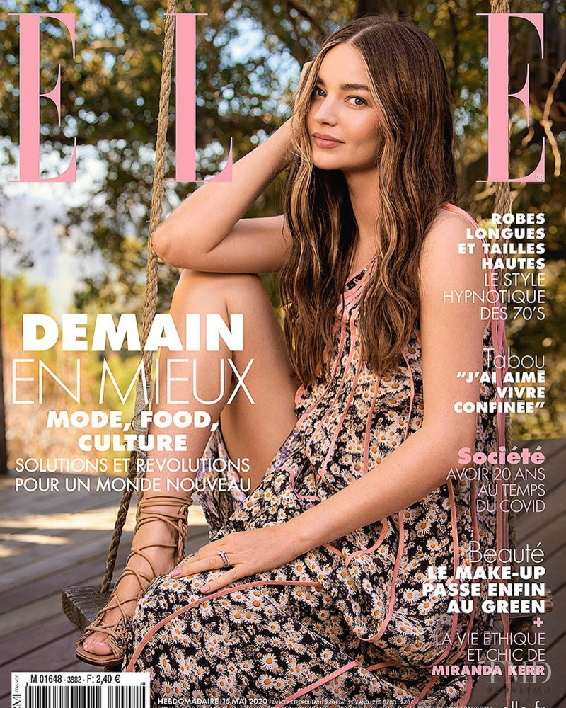 Miranda Kerr featured on the Elle France cover from May 2020